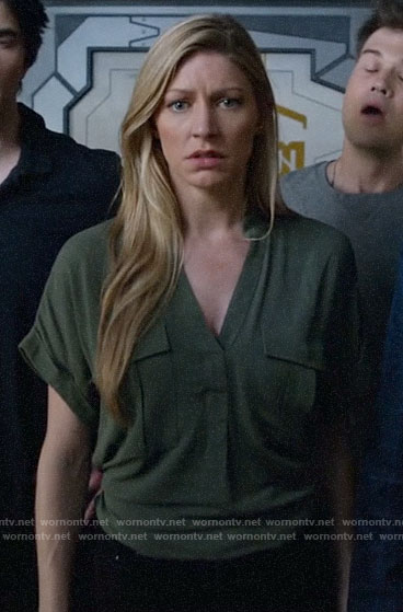 Ava's green utility top on Legends of Tomorrow