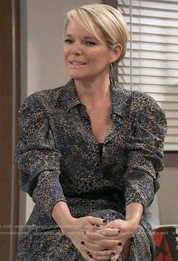 Ava's leopard print shirtdress on General Hospital