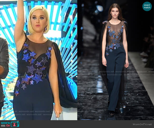 Spring 2019 Collection by Azzaro worn by Katy Perry  on American Idol