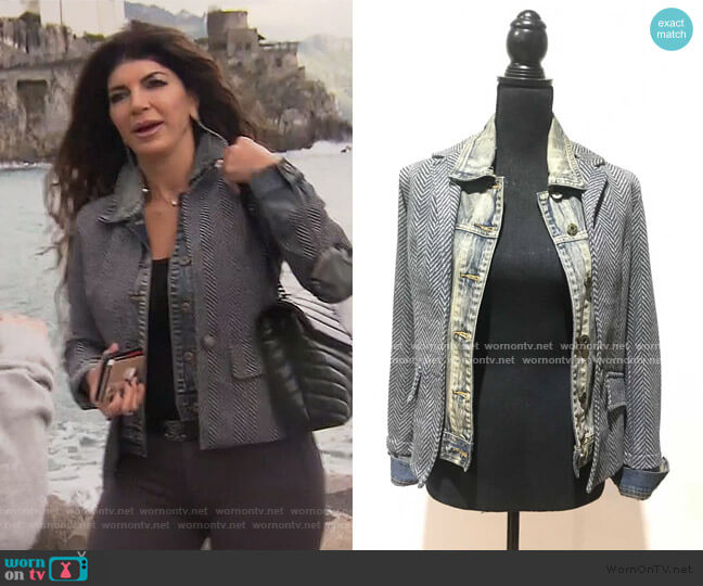 Fish Bone Jeans Jacket by Baci worn by Teresa Giudice  on The Real Housewives of New Jersey