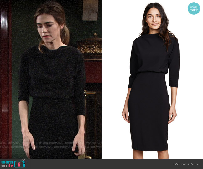 Badgley Mischka Long Sleeve Dress worn by Victoria Newman (Amelia Heinle) on The Young & the Restless