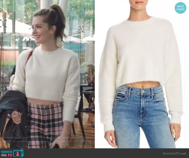 Cropped Fluffy Sweater by Bardot worn by Sutton (Meghann Fahy) on The Bold Type