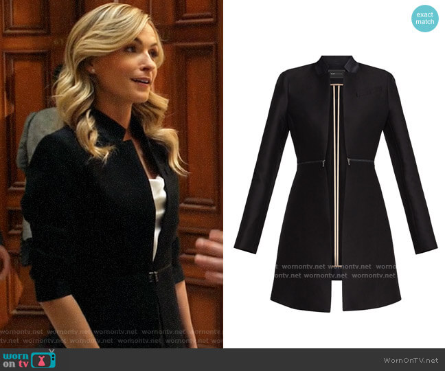 Bcbgmaxazria Arelia Coat worn by Amy Quinn (Lindsey Gort) on All Rise