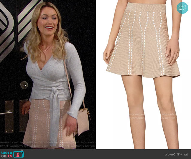 Bcbgmaxazria Ingrid Skirt worn by Florence (Katrina Bowden) on The Bold & the Beautiful