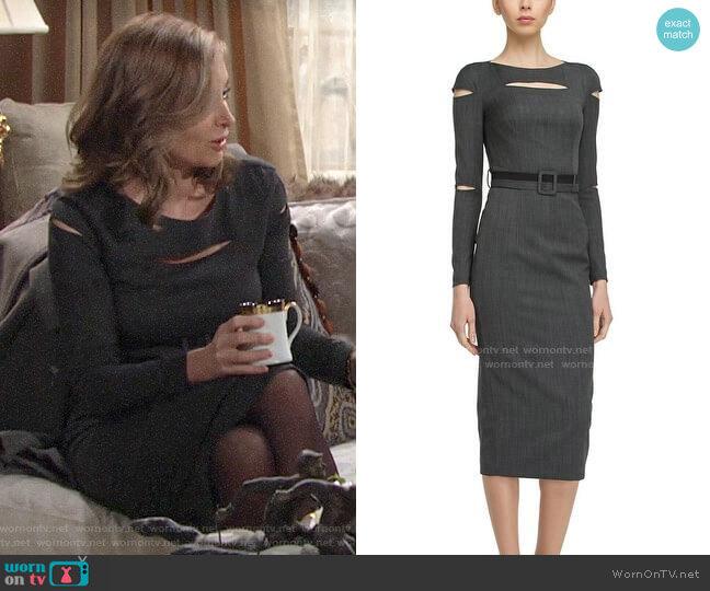 BGL Wool Blend Dress worn by Ashley Abbott (Eileen Davidson) on The Young & the Restless