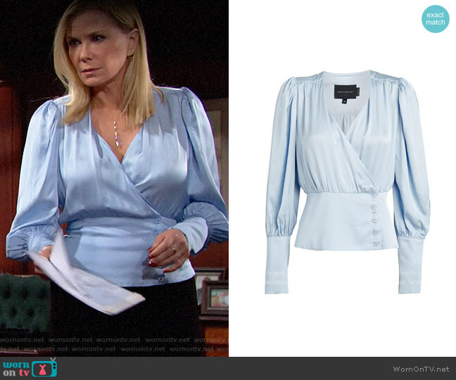 Birgitte Herskind Mie Blouse worn by Brooke Logan (Katherine Kelly Lang) on The Bold & the Beautiful
