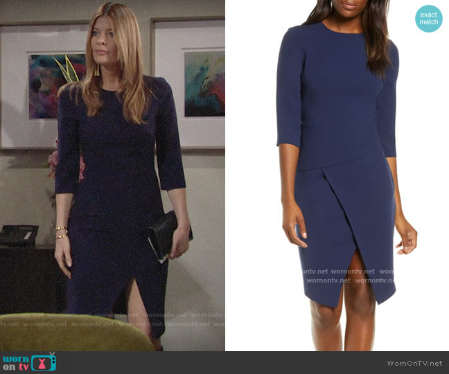Black Halo Kofi Dress worn by Phyllis Summers (Michelle Stafford) on The Young & the Restless
