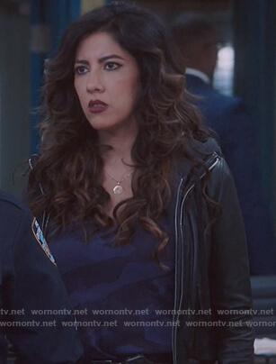 Rosa's hooded leather jacket on Brooklyn Nine-Nine