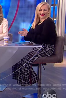 Meghan's black plaid pants on The View