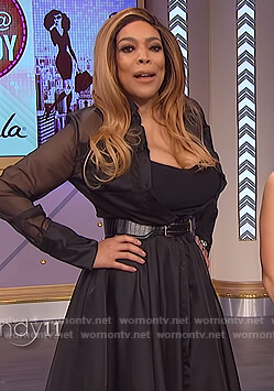 Wendy's black sheer maxi dress on The Wendy Williams Show