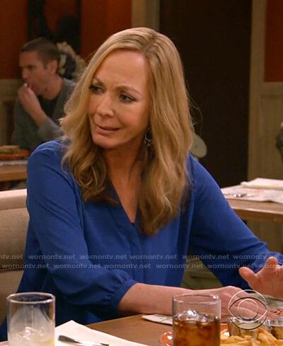 Bonnie's blue blouse on Mom