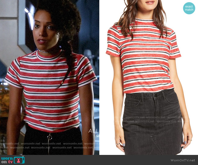 BP x Claudia Sulewski Mock Neck Tee worn by Charlie (Maisie Richardson-Sellers) on Legends of Tomorrow