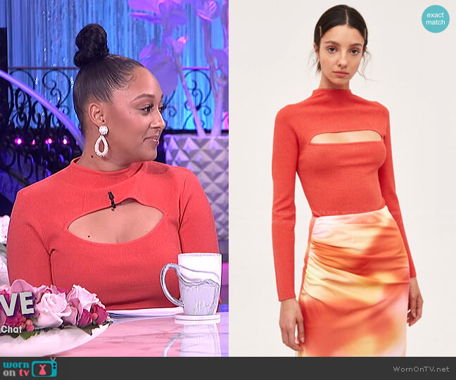 Fairness Knit Top by C/Meo Collective worn by Tamera Mowry  on The Real