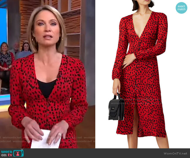 Cheetah Dress by Caara worn by Amy Robach  on Good Morning America