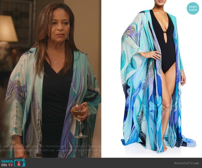 Oversized Silk Chiffon Robe by Camilla worn by Catherine Avery (Debbie Allen) on Greys Anatomy