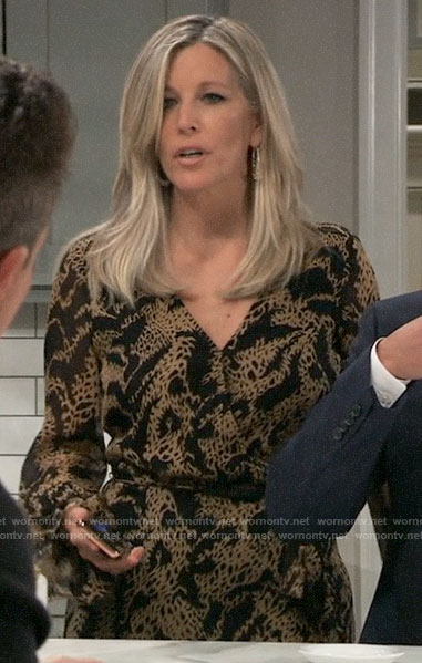 Carly's animal print dress on General Hospital