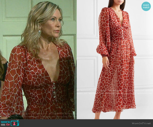 Caroline Constas Syros Dress worn by Kristen DiMera (Stacy Haiduk) on Days of our Lives
