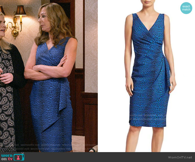 Chiara Boni La Petite Robe Charisse Dress worn by Bonnie Plunkett (Allison Janney) on Mom