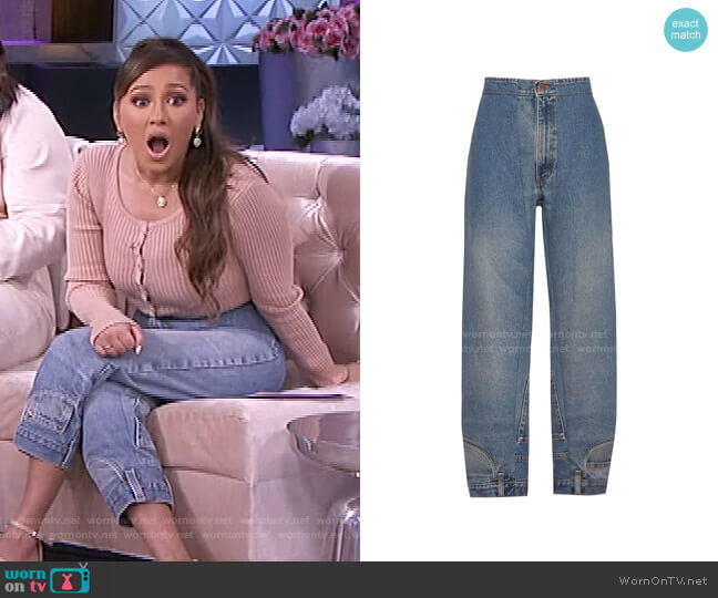Will Jean by CIE Denim worn by Adrienne Houghton  on The Real