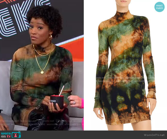 Ibiza Tie-Dye Rib-Knit Dress by Cotton Citizen worn by Keke Palmer  on Good Morning America