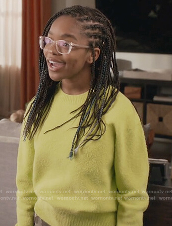 Diane's neon textured sweater on Black-ish