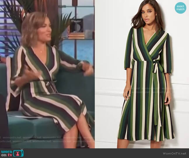 Brenda Dress - Eva Mendes Collection by New York & Company worn by Kit Hoover  on Access Hollywood