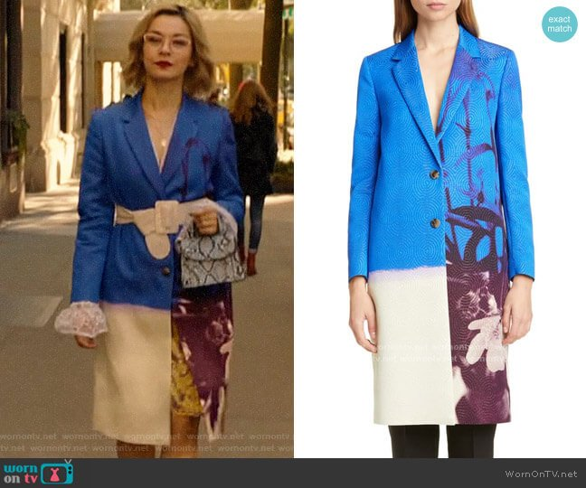 Dries van Noten Richy Floral Print Jacquard Jacket worn by Pepper Smith (Julia Chan) on Katy Keene
