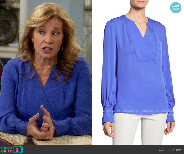 Elie Tahari Reva Blouse worn by Vanessa Baxter (Nancy Travis) on Last Man Standing