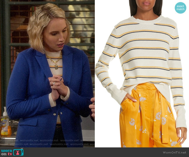 Equipment Duru Sweater worn by Mandy Baxter (Molly McCook) on Last Man Standing