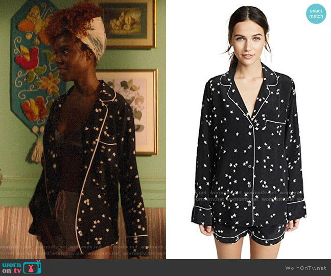 Equipment Lillian Starry Night PJ Set worn by Josie McCoy (Ashleigh Murray) on Katy Keene