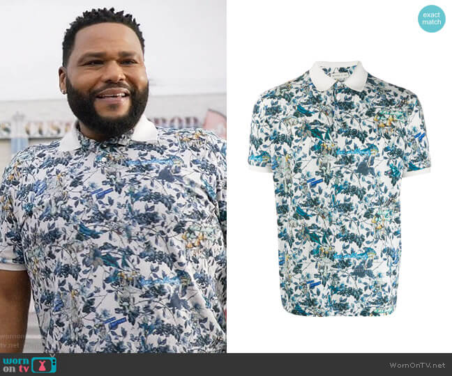 Etro Floral Print Polo Shirt worn by Andre Johnson (Anthony Anderson) on Blackish