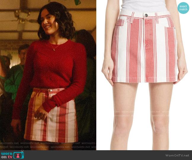 Frame Le Mini Striped Skirt worn by Katy Keene (Lucy Hale) on Katy Keene