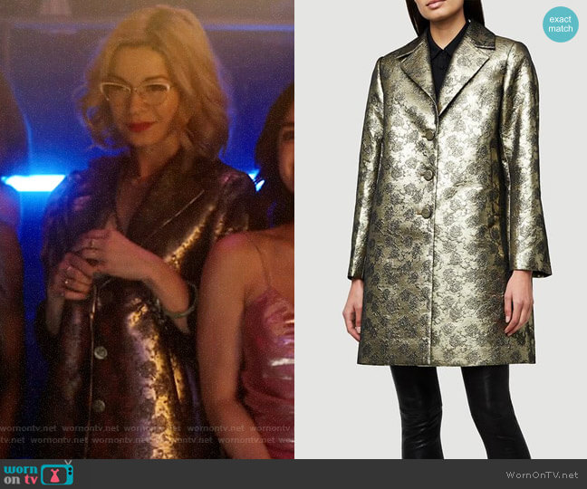Frame Jacquard Coat worn by Pepper Smith (Julia Chan) on Katy Keene