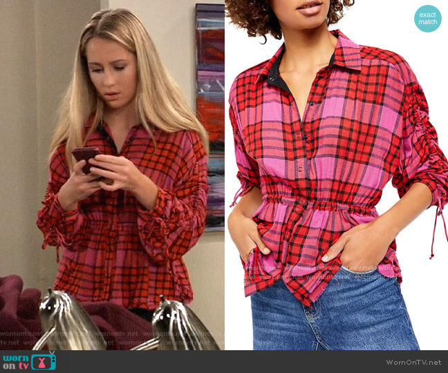 Free People Pacific Dawn Top worn by Josslyn Jacks (Eden McCoy) on General Hospital