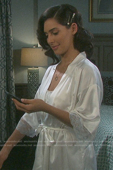 Gabi's bridal robe on Days of our Lives