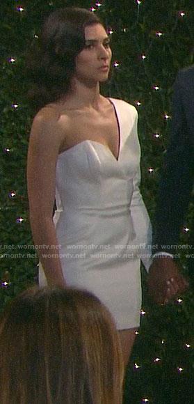 Gabi's mini wedding dress on Days of our Lives