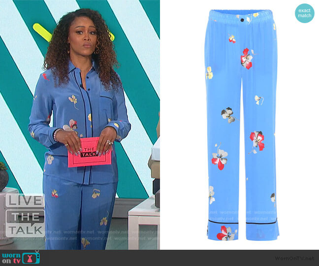 Joycedale Trousers by Ganni worn by Eve  on The Talk