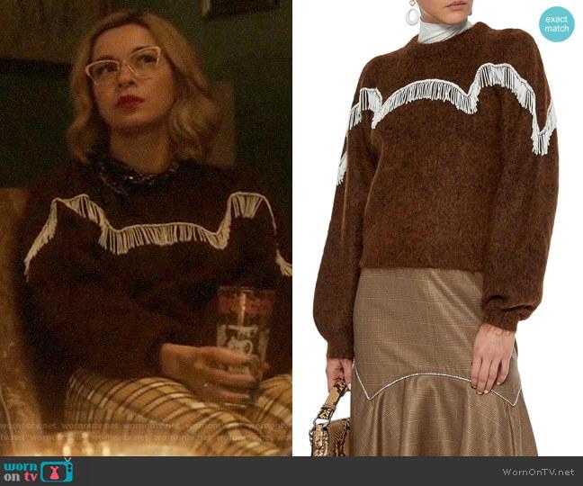 Ganni Aberdeen Sweater worn by Pepper Smith (Julia Chan) on Katy Keene