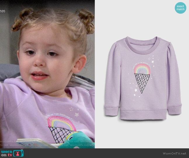 Gap Graphic Puff-Sleeve Sweatshirt