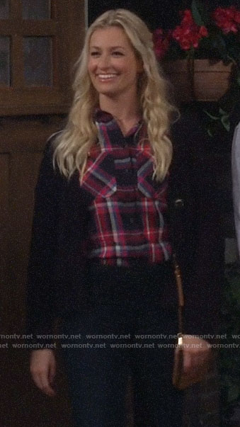 Gemma's plaid shirt on The Neighborhood