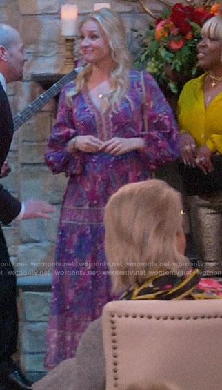 Gemma's purple floral midi dress on The Neighborhood