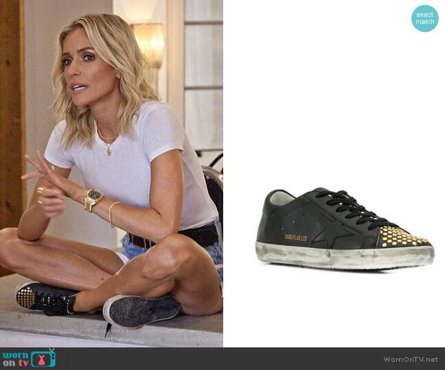 Golden Goose Superstar Studded Sneakers worn by Kristin Cavallari  on Very Cavallari