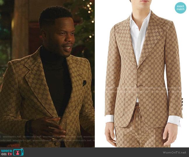 GG Jacquard Blazer by Gucci  worn by Jeff Colby (Sam Adegoke) on Dynasty