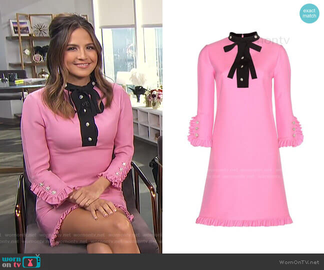 Embellished Wood Dress by Gucci worn by Erin Lim  on E! News