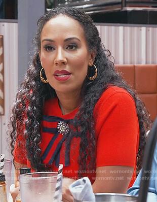 Tanya Sam's ribbon brooch on The Real Housewives of Atlanta
