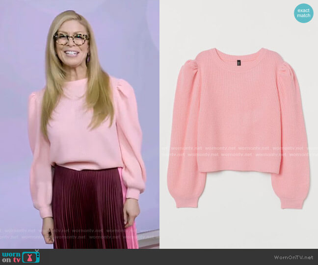 Puff-sleeved Sweater by H&M worn by Jill Martin  on Today