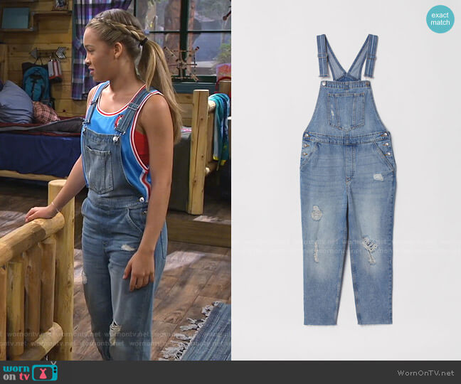Denim Overalls by H&M worn by Ava (Shelby Simmons) on Bunkd