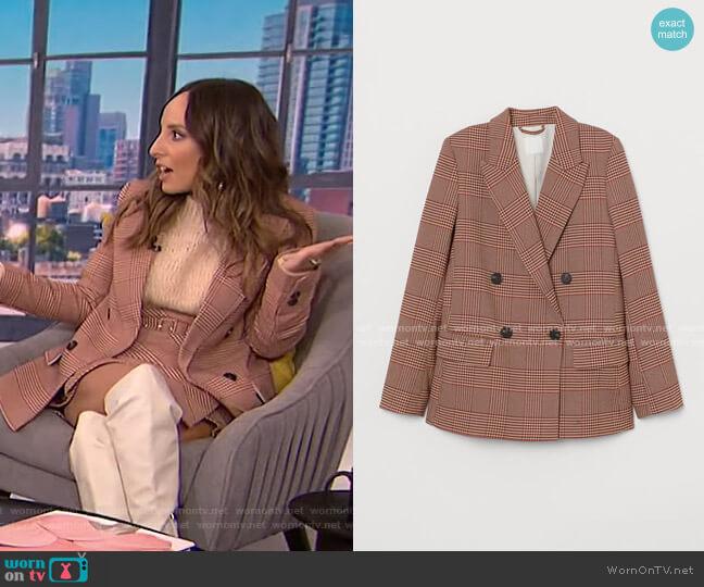 Plaid Blazer by H&M worn by Lilliana Vazquez  on E! News