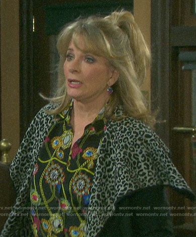Hattie's chain print blouse on Days of our Lives