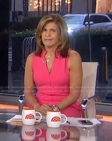 Hoda's pink zip-front jumpsuit on Today